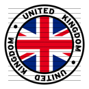 Round United Kingdom Flag Clipart