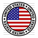 Round United States Flag Clipart