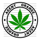 Round Agent Orange Marijuana Strain Clipart