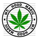 Round Mt. Hood Magic Marijuana Strain Clipart