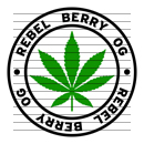Round Rebel Berry OG Marijuana Strain Clipart