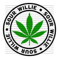 Round Sour Willie Marijuana Strain Clipart