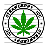 Round Strawberry Ice Marijuana Strain Clipart