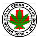 Round Blue Dream Medical Marijuana Strain Clipart
