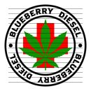 Round Blueberry Diesel Medical Marijuana Strain Clipart