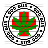 Round God Bud Medical Marijuana Strain Clipart