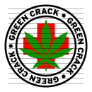 Round Green Crack Medical Marijuana Strain Clipart