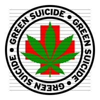Round Green Suicide Medical Marijuana Strain Clipart