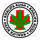 Round Khalifa Kush Medical Marijuana Strain Clipart