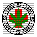 Round Larry OG Medical Marijuana Strain Clipart