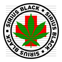 Round Sirius Black Medical Marijuana Strain Clipart