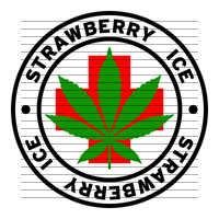 Round Strawberry Ice Medical Marijuana Strain Clipart