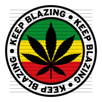 Round Keep Blazing Rasta Marijuana Flag Clipart