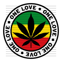 Round One Love Rasta Marijuana Flag Clipart