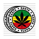 Round Rasta Marijuana Flag Clipart Set