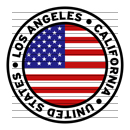 Round Los Angeles California United States Flag Clipart