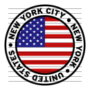 Round New York City New York United States Flag Clipart