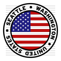 Round Seattle Washington United States Flag Clipart