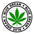 Round Blue Dream Marijuana Strain Clipart